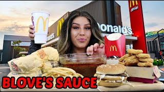 Mc Donalds Mukbang  With Bloves Sauce