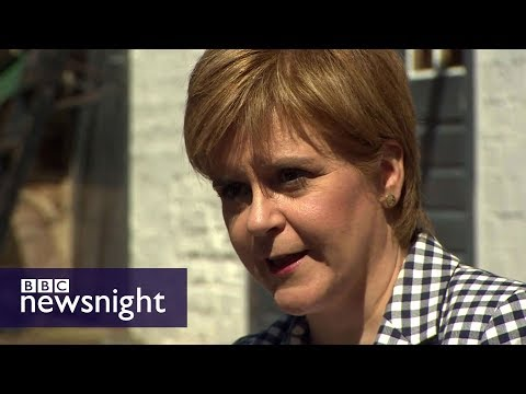 Would SNP's Nicola Sturgeon do a deal with Theresa May or Jeremy Corbyn? BBC Newsnight