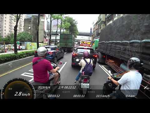 示範一下多數台灣機車如何選擇騎車路徑