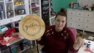 Craftmas Episode 51: Farmhouse Lazy Susan Using Chalk Paint