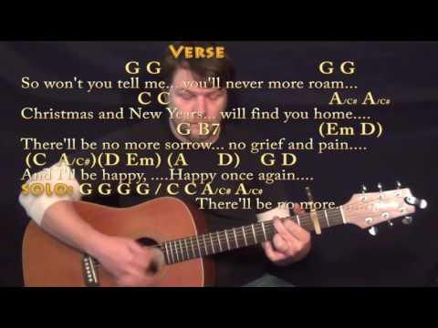 Please Come Home For Christmas (Eagles) Guitar Lesson Chord Chart - Capo 2nd