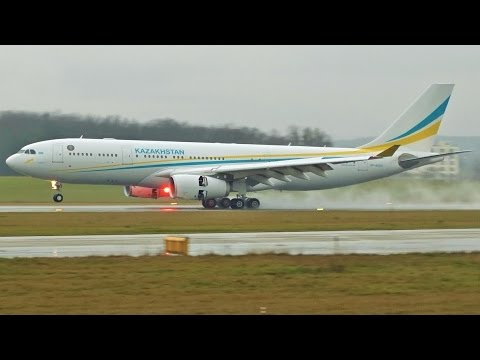 [FullHD] Kazakhstan Government Airbus A330-200 Prestige land