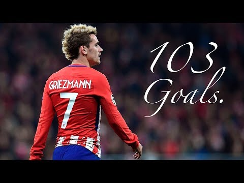 Antoine Griezmann / All 103 Goals for Atletico Madrid / 2014 - 2018