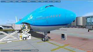 Skrót: PREPAR3D v4.4 VATSIM  B748 LSZH - Zurich Airport-ENGM - Oslo Gardermoen Airport