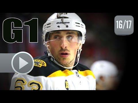 Boston Bruins vs Ottawa Senators. 2017 NHL Playoffs. Round 1. Game 1. April 12th, 2017. (HD)