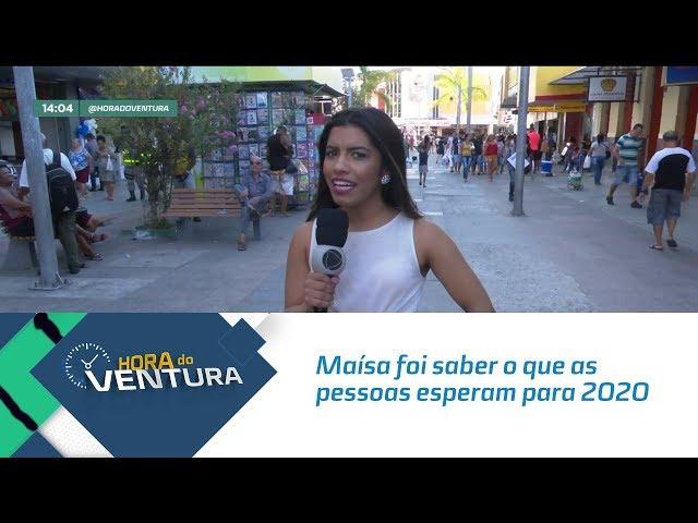 Maísa foi até o Centro de Maceió saber o que as pessoas esperam para 2020  - Bloco 01