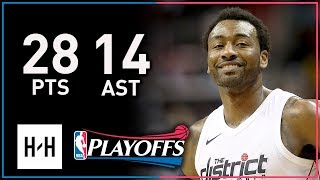 John Wall Full Game 3 Highlights Wizards vs Raptors 2018 Playoffs - 28 Points, 14 Ast, CRAZY!