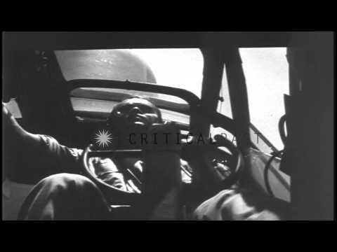 A U.S. Navy Martin PBM Mariner aircraft patrolling for submarines in the Pacific...HD Stock Footage
