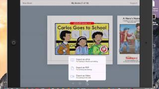 Opening Reading A-Z Books in Book Creator