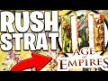 THE BEST RUSH STRATEGY - AGE OF EMPIRES 3