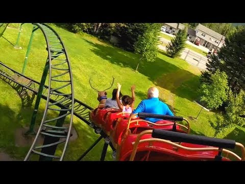 Rudy's Rapid Transit Roller Coaster (HD POV) - Santa's Village Theme Park