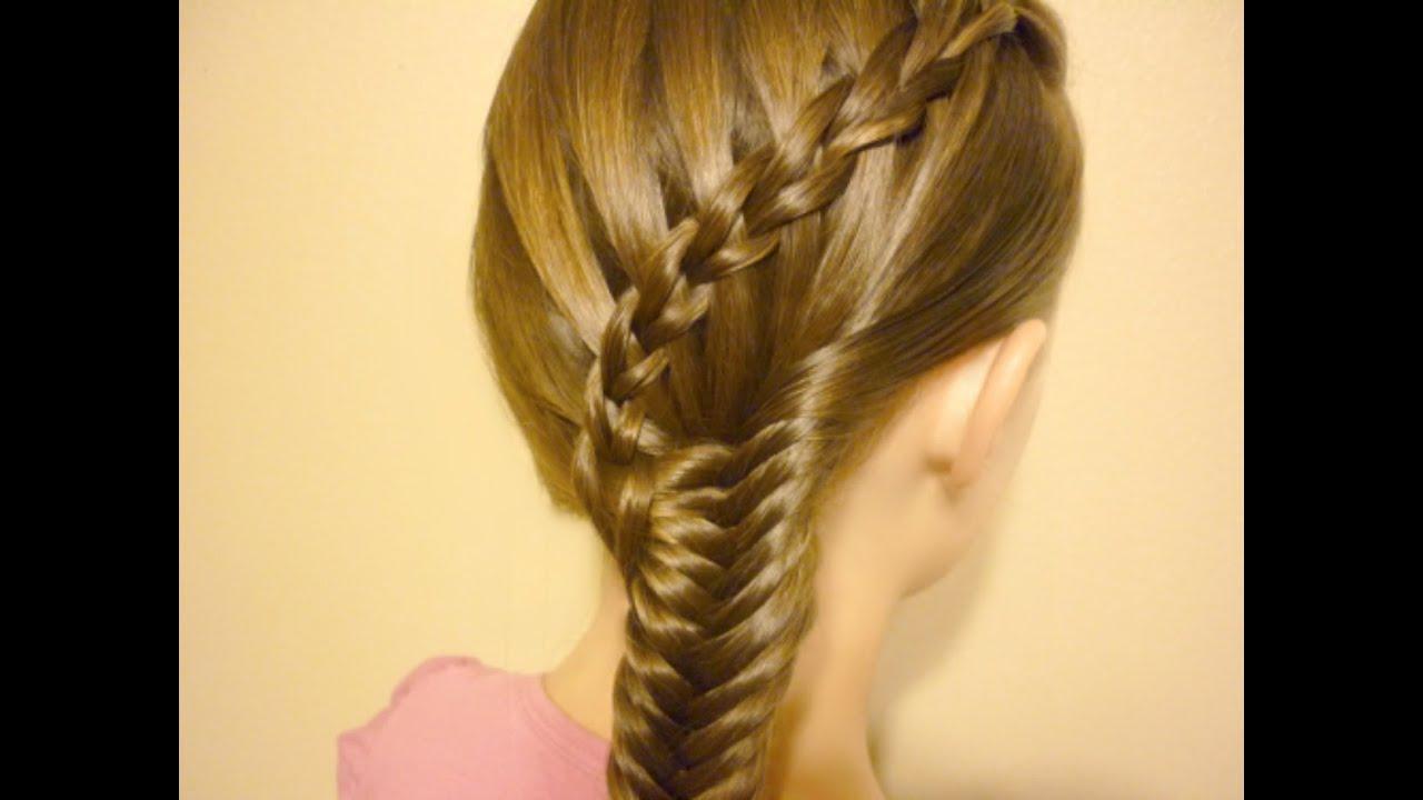Hairstyles Braids Youtube: Scissor Waterfall Braid & Fishtail Combo Hairstyle