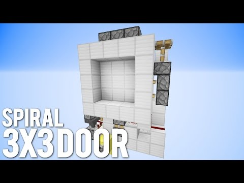 Minecraft: 3x3 Spiral Door [Compact And Fast!]