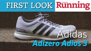FIRST LOOK: Adidas Adizero Adios 3