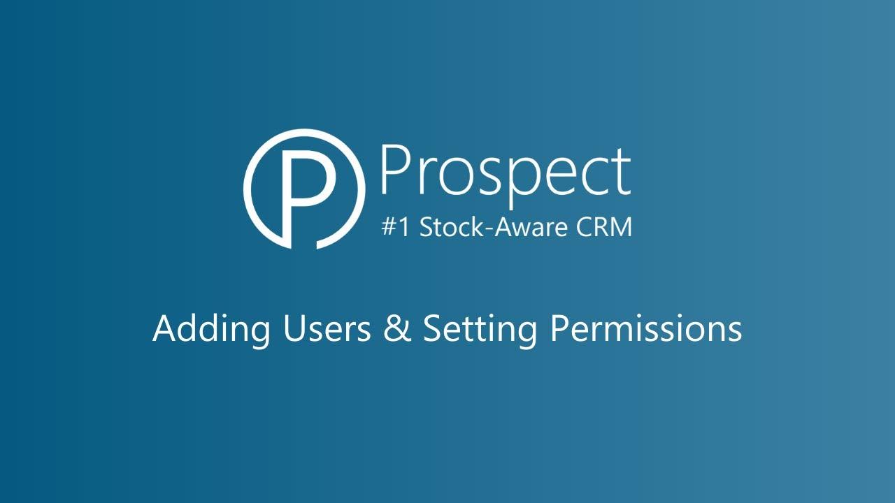 Adding Users & Setting Permissions
