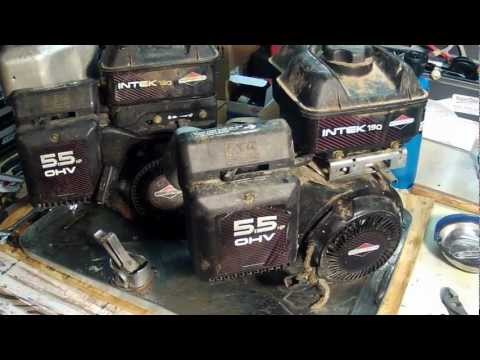 Briggs and Stratton Intek Engines - Model Number Locations