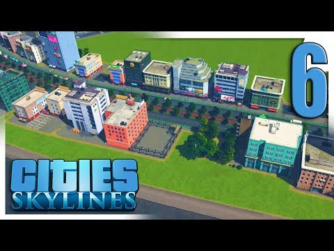 BASIC CARGO TRAINS & COMMERCIAL RIVERFRONT | Cities: Skylines Gameplay S3E6