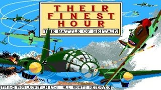 Their Finest Hour: The Battle of Britain gameplay (PC Game, 1989)