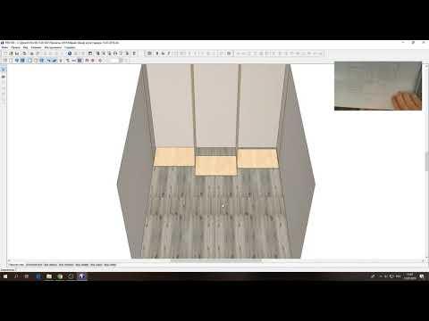 Рисуем шкаф-купе в pro100, 3 двери