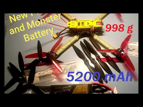 Фото Drone FPV Long Range Drone bigger than Mavic Pro 5200 mAh lipo ColoradoJerry FPV freestyle