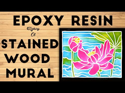 Epoxy Resin  Stain Wood Mural Making Tutorial  (For Beginners)