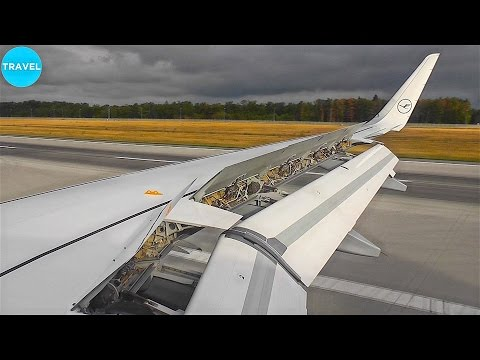 "Lufthansa A320-200SL ""Pefect Wing-View"" Landing in Frankfurt!"