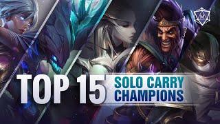 TOP 15 SOLO CAŔRY Champions for Season 11 Solo queue   Mobalytics LoL