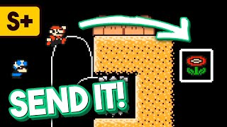 Getting Thrown Into the Goal in Super Mario Maker 2 Versus Mode