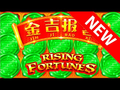 NEW SLOT ALERT! $17.60/SPIN HUGE Wins on HIGH LIMIT Rising Fortunes Slot Machine W/ SDGuy1234 - 동영상