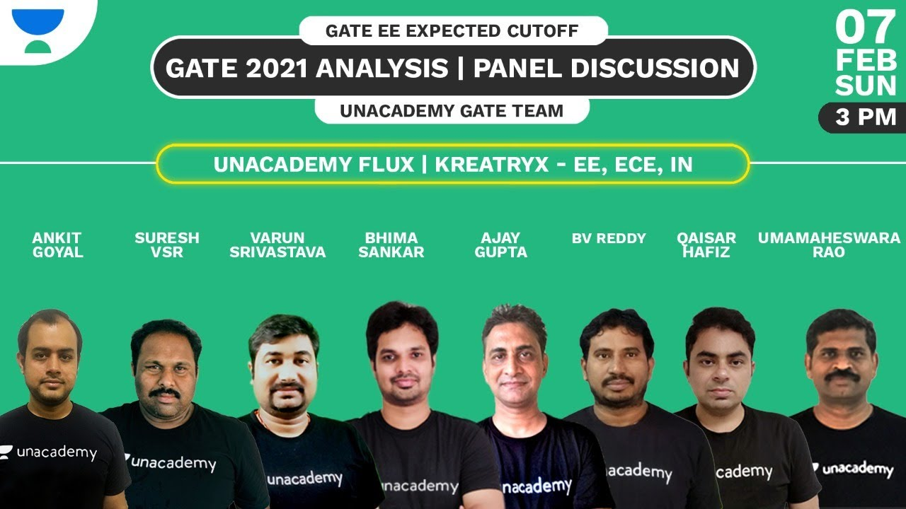GATE 2021 Analysis | Electrical | Panel Discussion | GATE EE Expected Cutoff 2021 | Unacademy Team