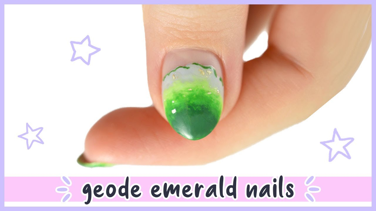 New Nail Art 2020 ♡ Realistic Emerald Geode Nail Design!