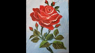 Fun and Easy Masterpiece in progress. Paint this cut Rose