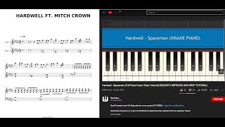 Hardwell -  Spaceman (Full Piano Cover Video Tutorial) [HD] [WITH ARPEGGIO AND DROP TUTORIAL]