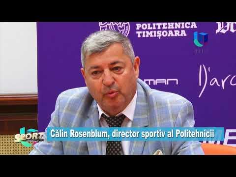 TeleU: Călin Rosenblum, director sportiv al Politehnicii
