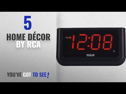 "Top 10 Home Décor By Rca [ Winter 2018 ]: RCA Digital Alarm Clock with Large 1.4"" Display"
