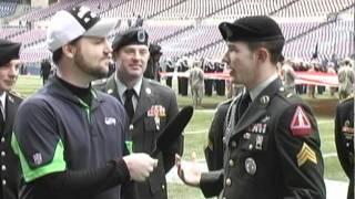 Seahawks vs. Ravens - Pregame Reenlistment