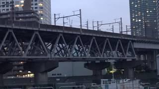 真下から見た東海道新幹線の大井車両基地への回送線と羽田空港アクセス線候補の東海道貨物線大汐線