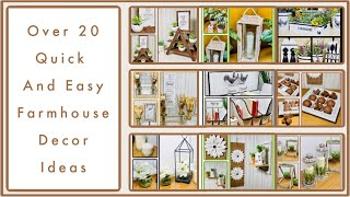 Over 20 Dollar Tree DIY Farmhouse Decor Craft Ideas 2020 - Farmhouse, Rustic, Modern And More