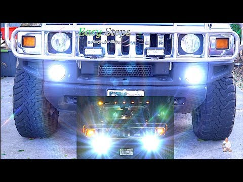 How To Replace | Upgrade HUMMER Daytime Running Light (DRL) To LED Lights | H2 DRL – LED Upgrade