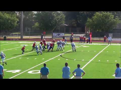 SVAA 4th grade Tigers defense vs Chargers