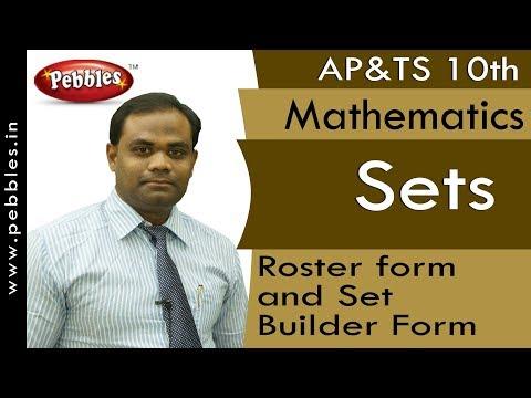Roster Form And Set Builder Form : Sets   Mathematics   AP&TS