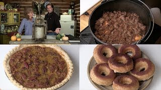 Making Apple Cider, Butternut Squash Pie, Apple Cider Donuts & Sweet Potato Pork Dish (Episode #444)