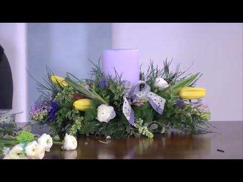 Il Centrotavola fiorito fai da te Video tutorial  YouTube