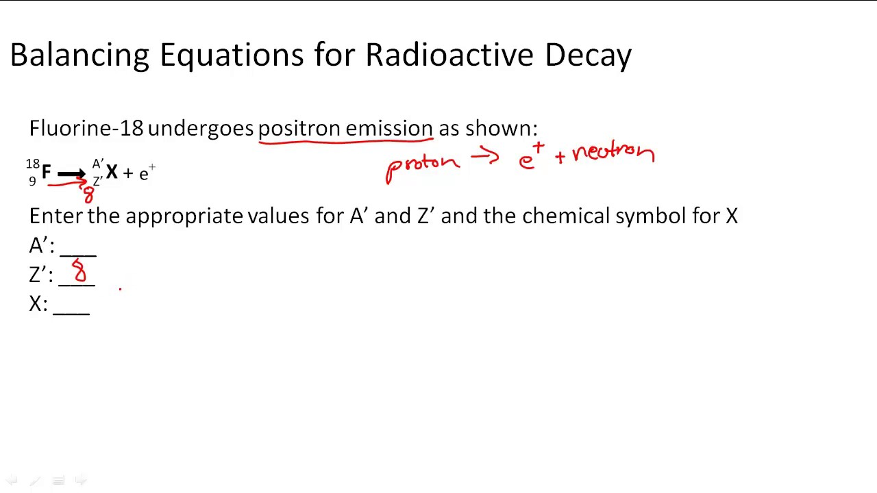 Writing balanced nuclear equations for radioactive decay youtube writing balanced nuclear equations for radioactive decay biocorpaavc