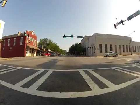 A Ride through Downtown Monroe GA Using GoPro HDHero2