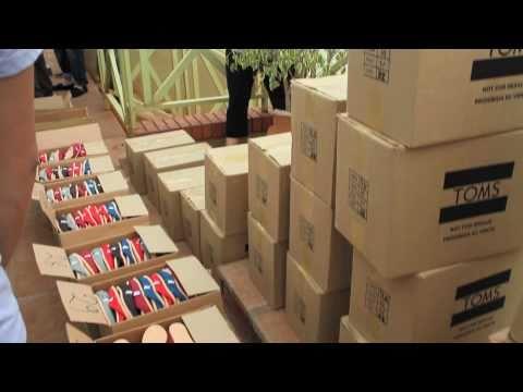 TOMS Millionth Pair Shoe Distribution