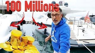 ST TROPEZ : PORT POUBELLE DE LUXE POUR MILLIARDAIRES ??? CHRISDETEK PECHE A L'AIMANT BULLDOG