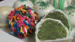 Green Velvet Cake Balls