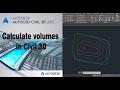 Autocad civil 3D Calculate surface volume