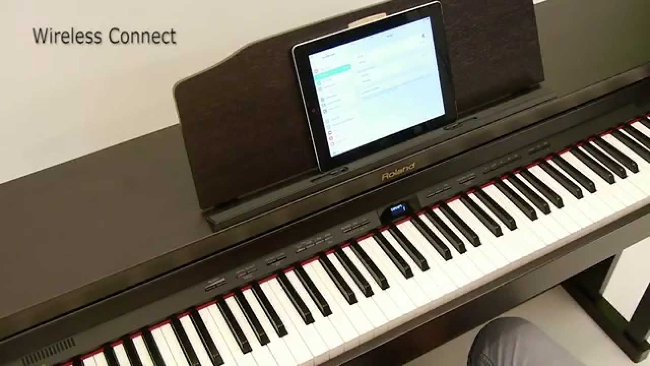 roland hp504 digital piano piano partner app youtube. Black Bedroom Furniture Sets. Home Design Ideas
